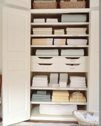 Organization clean up sale prep linen closet de-clutter